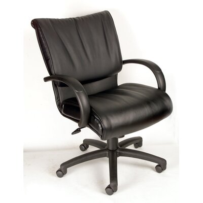 Boss Office Products Modern Mid-Back Leat..