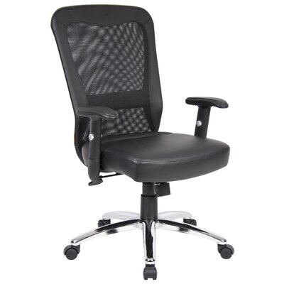 Boss Office Products High-Back Leather Office Chair with Arms