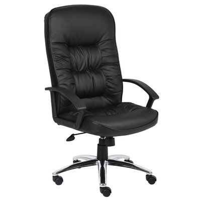 Boss Office Products High Back Leatherplus Executive Chair with Arms