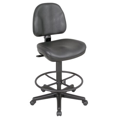Alvin and Co. Backrest Leather Premo Ergonomic Drafting Chair