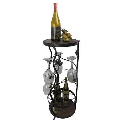 Metrotex Designs French Vineyard 7 Bottle Floor Wine Rack