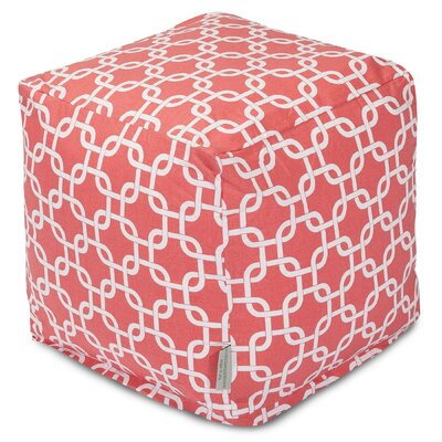 Majestic Home Goods Coral Links Cube Ottoman