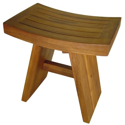 aqua teak shower seat chair bed bath and beyond double asian stool or bench