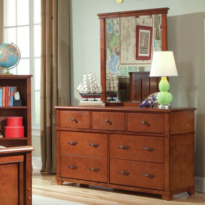 Bolton Furniture Woodridge 7-Drawer Wood Double Dresser with Mirror