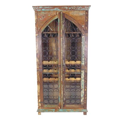 MOTI Furniture 21 Bottle Floor Wine Cabinet