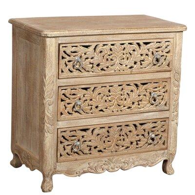 MOTI Furniture 3 Drawer Dresser