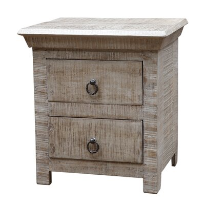 MOTI Furniture Troy 2 Drawer Nightstand