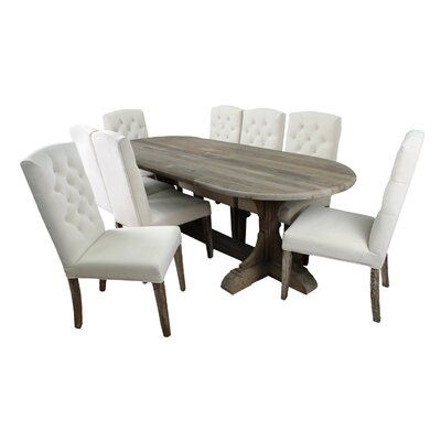 MOTI Furniture Syracuse 9 Piece Dining Set