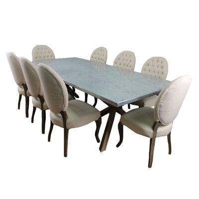 MOTI Furniture Syracuse 9 Piece Dining Set