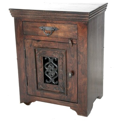 MOTI Furniture 1 Drawer Nightstand