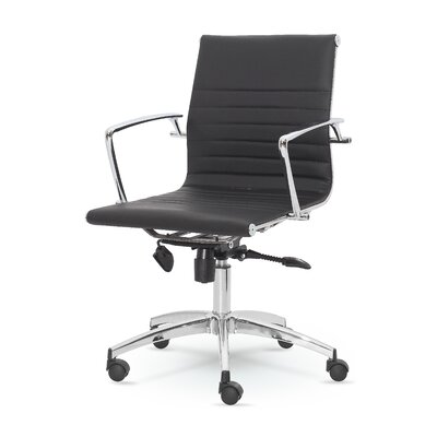 Winport Industries Winport Mid-Back Leather Executive Office Chair