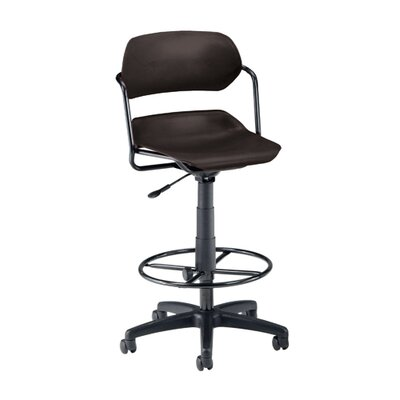 OFM Height Adjustable Plastic Swivel Stool