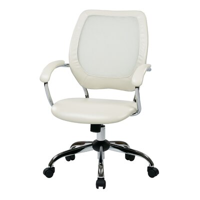 Office Star Products Designer Mid-Back Conference Chair with Chrome Accents