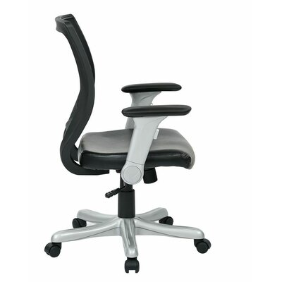 Office Star Products Work Smart Mid-Back Mesh Conference Chair with Flip Arms
