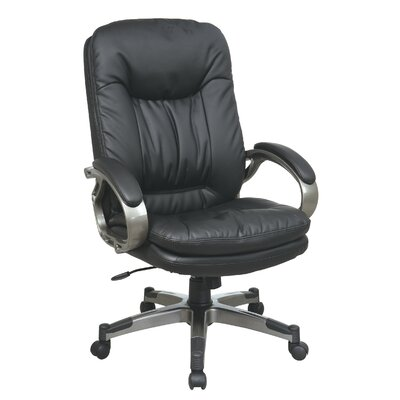 Office Star Products High-Back Leather Ex..