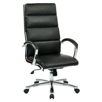 Office Star Products High-Back Executive Chair with Arms