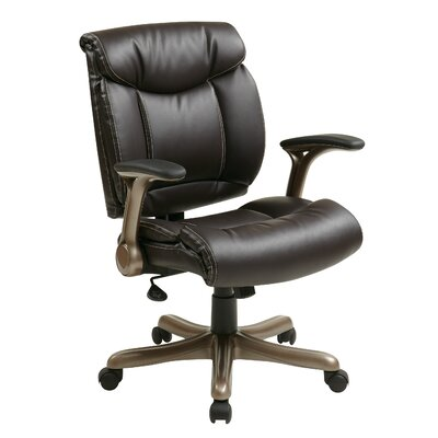 Office Star Products Mid-Back Eco Leather Executive Chair