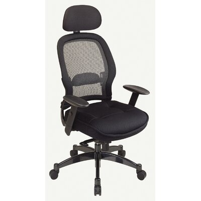 Office Star Products SPACE Deluxe Matrex High-Back Mesh Conference Chair with Arms