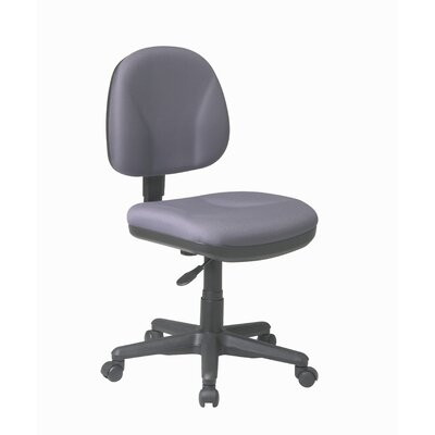 Office Star Products Sculptured Low-Back Task Chair without Arms