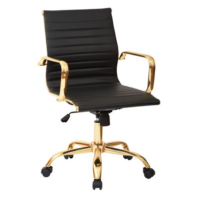 Office Star Products Mid-Back Executive Office Chair with Arms