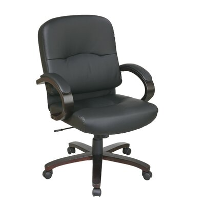 Office Star Products Mid-Back Eco Leat..