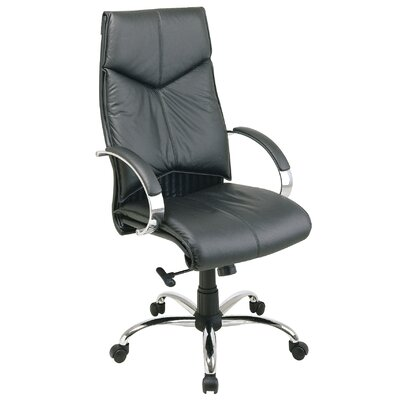 Office Star Products Deluxe High-Back Executive Leather Executive Chair
