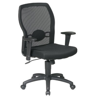 Office Star Products Mid-Back Mesh Office Chair with Adjustable Arms