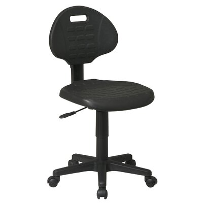 Office Star Products Low Black Urethan..