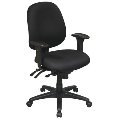 Office Star Products Work Smart Mid-Back Multi-Function Ergonomic Office Chair