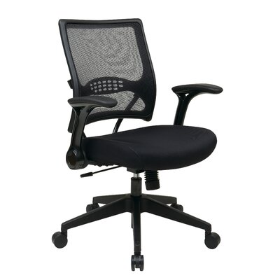 Office Star Products Air Grid Back Mesh Conference Chair with Flip Arms