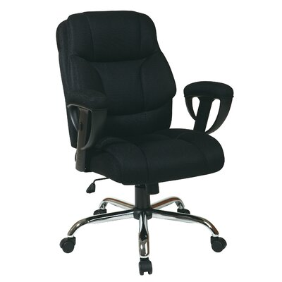 Office Star Products Mesh Executive Chair with Padded Height Adjustable Arms