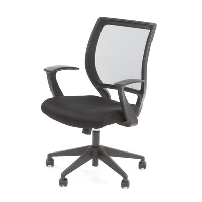 Office Star Products Screen Back Mesh Seat Conference Chair with Fixed Designer Arms
