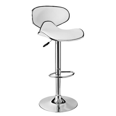 Brayden Studio Adjustable Height Swivel Bar Stool