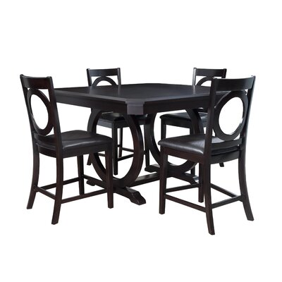 Powell Furniture Brigham 5 Piece Counter Height Dining Set