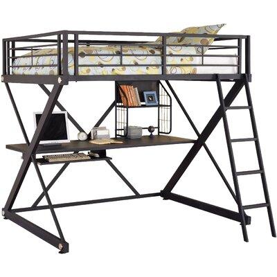 Powell Z Bedroom Full Over Full Loft Bed Amp Reviews Wayfair