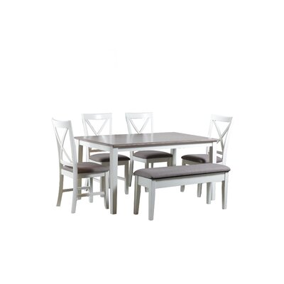 Laurel Foundry Modern Farmhouse Amaury 6 Piece Dining Set