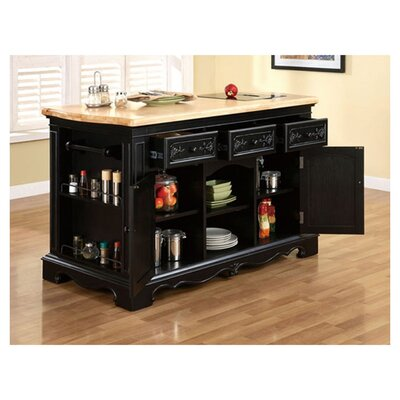 Darby Home Co Hofmeister Kitchen Island with Granite Top