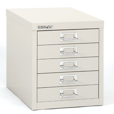 Bindertek 5-Drawer Steel Desktop Multidrawer Storage Cabinet