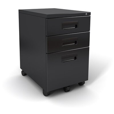 Paragon Furniture 3-Drawer Mobile File-It Pedestal