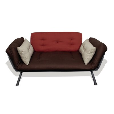 Elite Products Mali-Flex Multi-Positional Twin Futon - Plank/Dusk/Stone