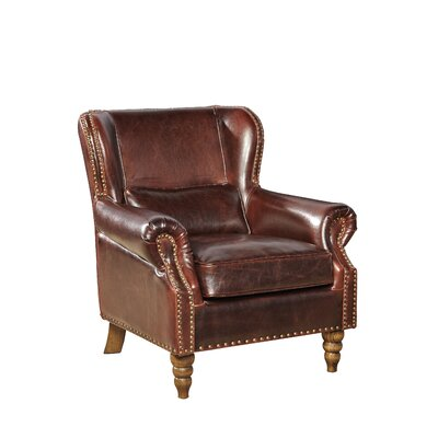 Furniture Classics LTD Leather Wingback Chair