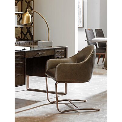 Sligh Cross Effect Leather Desk Chair