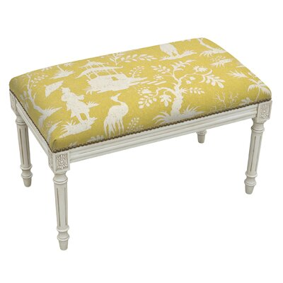 123 Creations Floral Upholstered and Wood..