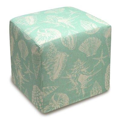 123 Creations Seashells Upholstered Cube Ottoman