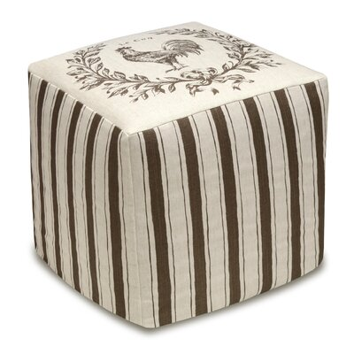123 Creations Rooster Upholstered Cube Ottoman