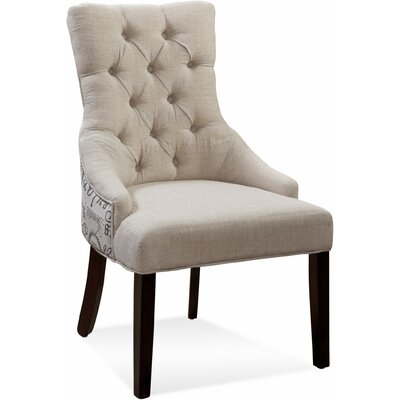 Bassett Mirror Fortnum Ceylan Tufted Nailhead Parson Side Chair (Set of 2)