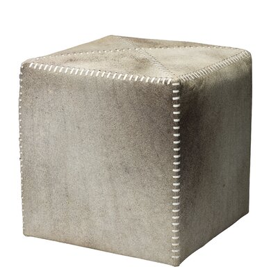 Jamie Young Company Cross Stitch Leather Cube Ottoman