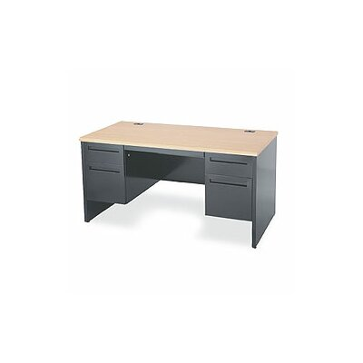 Virco Double Pedestal Office Computer Desk