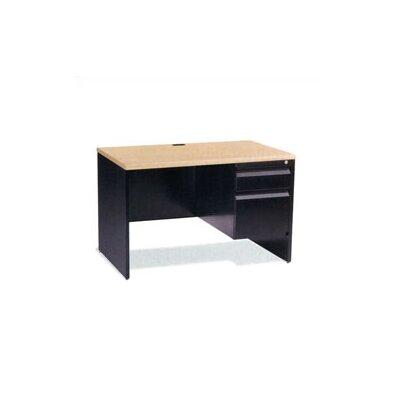 Virco Single Pedestal Computer Desk with ..