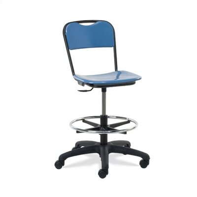 Virco Height Adjustable Lab Stool with Casters Image